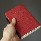 和布で作ったブックカバー(Jizai)